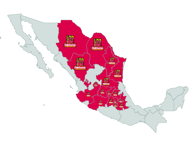 Sucursales en México